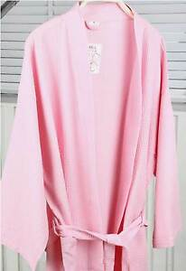 1 Piece Womens Ladies Girls Plain Cotton Waffle Dressing Gown Bathrobe Sleepwear