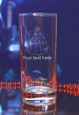 Disney Bella (Personalised Disney Princess Bella  engraved glass Birthday,Christmas gift#161)