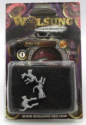 Wolsung W00065 Ninja Cats (The Scylla) Steampunk Attack Felines Micro Art Studio
