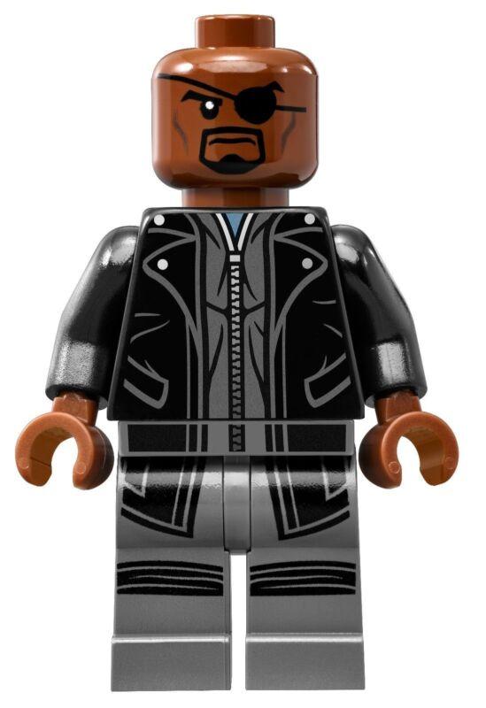 LEGO 2015 *New* Marvel Avengers Nick Fury Helicarrier mini figure 76042