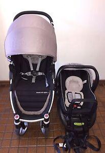 AGILE SHELL PRAM STROLLER + STEELCRAFT CAPSULE BABY CAR SEAT CLEAN EUC Morphett Vale Morphett Vale Area Preview