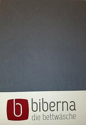 Biberna Biber - Spannbetttuch 140x200 - 160x200 cm, extra warm, Dunkelgrau