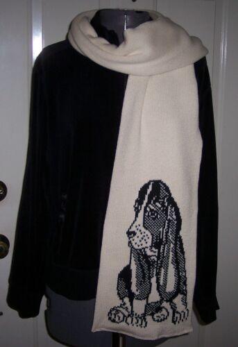 Custom Knit Basset Hound Scarf