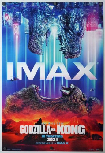 Godzilla Vs Kong - original DS movie poster 27x40 D/S - INTL D IMAX 2021