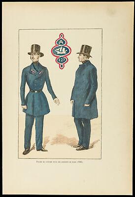 1896 - Gravur Kostüm der Wächter des Friedens De Paris, 1848 - Der Wächter Kostüm