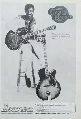 Ibanez Guitars 1978 Vintage Advert Poster - George Benson
