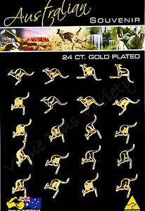 20 Australian Lapel Hat Pin Flying Kangaroo Bulk Made In Australia NEW