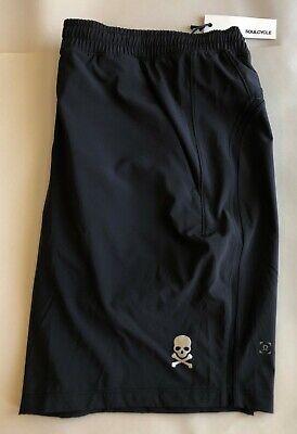 "Lululemon x Soul Cycle Pace Breaker Black Skull Running Shorts 9"" - New!   sz M"