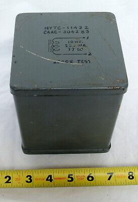 10h 225ma Inductor Choke Nytc-11422 Caac-304283 Vintage C