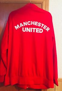Men's red Manchester United zippered track jacket
