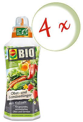 Sparset: 4 X Compo Bio Frutales y Abono Vegetal, 1 Litros