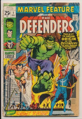 Marvel Feature #1 Marvel Comics 1971 Origin/1st app Defenders, Adams cover
