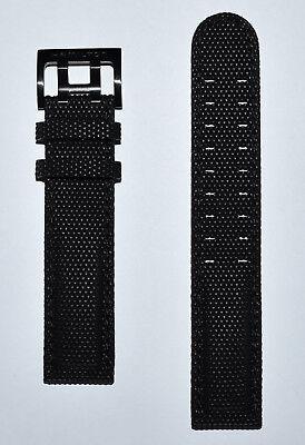 Original Hamilton Khaki H684010 H706950 H716260 Black Rubber 20mm Band Strap