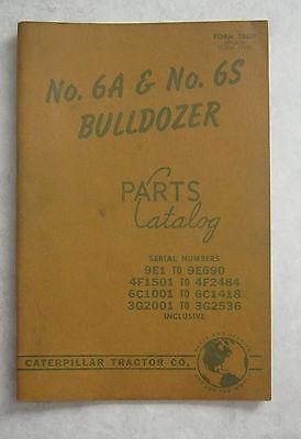 1957 Caterpillar No 6a 6s Bulldozer Parts Catalog 30639