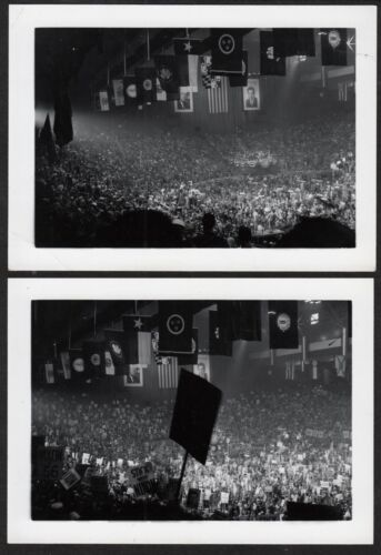 EISENHOWER & NIXON 1952 REPUBLICAN CONVENTION AMAZING 1952 VINTAGE PHOTO LOT