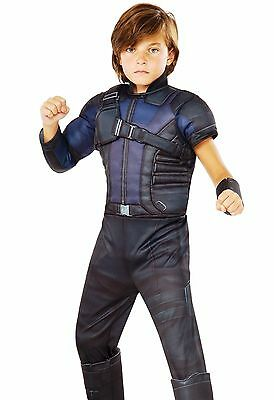 Deluxe Hawkeye Costume Childs Boys Kids with Muscles Avengers Hawk Eye - S, M, L - Hawkeye Costume For Boys