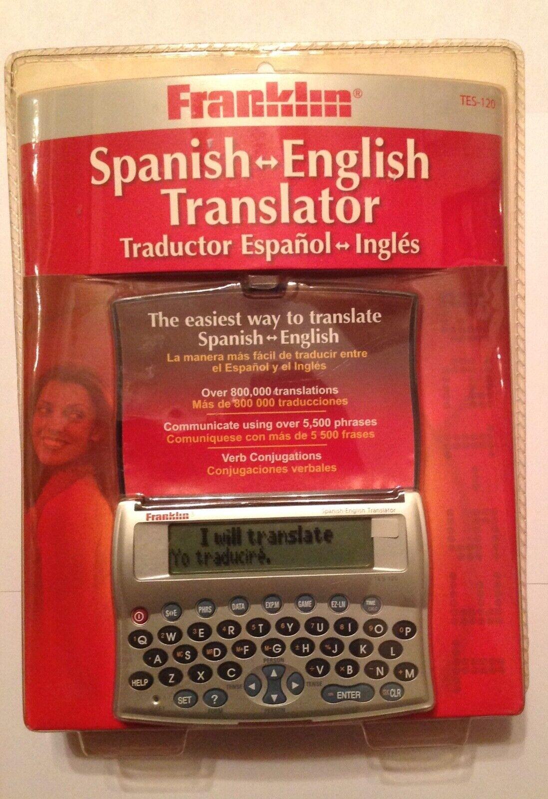 Franklin TES-120 English-Spanish Translator