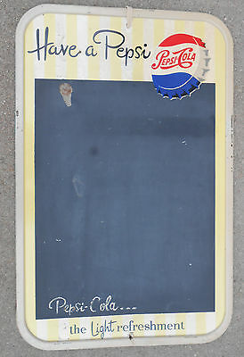 vintage Pepsi Cola soda advertising chalk board sign