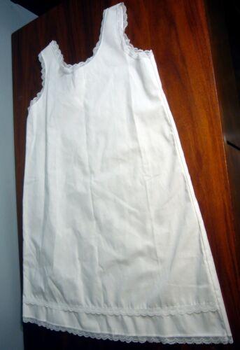 Vintage White Cotton & Lace Full Slip Petticoat J.C. Collection NWOT~Size 6
