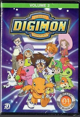 Digimon: Digital Monsters - The Officia First Season, Vol. 2 (DVD, 2013, 3-Disc