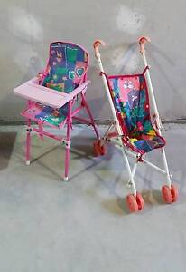 Baby born stroller and high chair Mitchelton Brisbane North West Preview