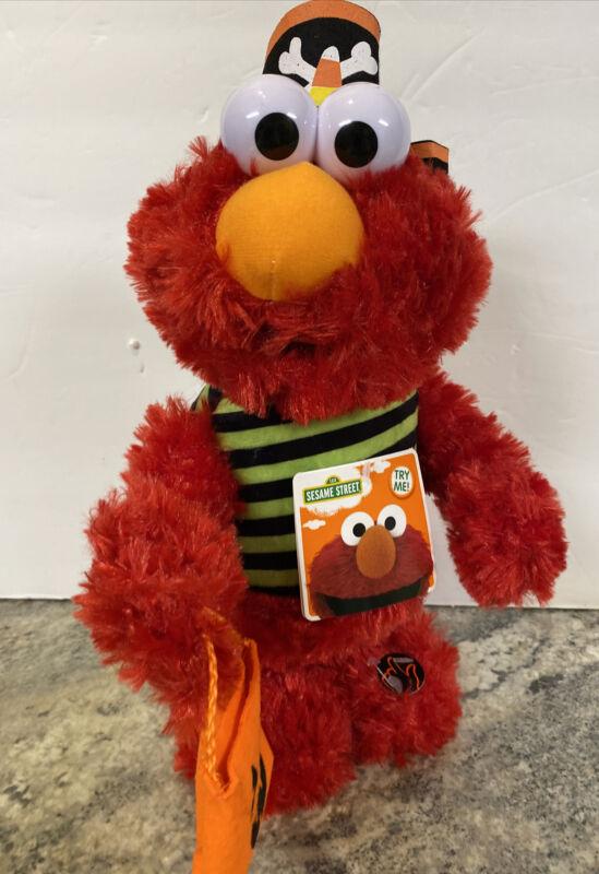 New DanDee Halloween Animated Elmo Pirate Plush Side Stepper Musical Trick Treat