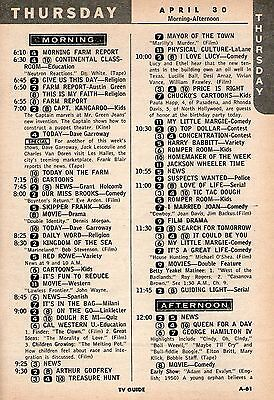 APRIL 30,1959 Tv Ad~PAULA HAPP & RHONDA DAVIS visit CHUCKO THE BIRTHDAY CLOWN
