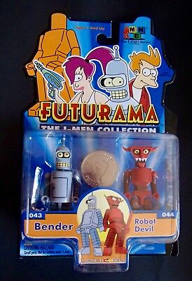Futurama Toynami I-MEN Collection Figures BENDER/ DEVIL ROBOT minimates size MOC