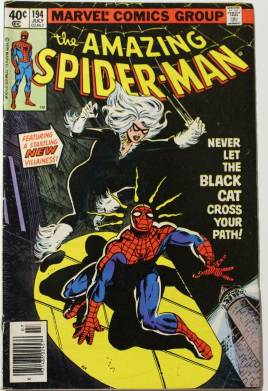 Amazing Spider-man (1963 1st Series) 194 1st appearance Black Cat KEY Issue Comi
