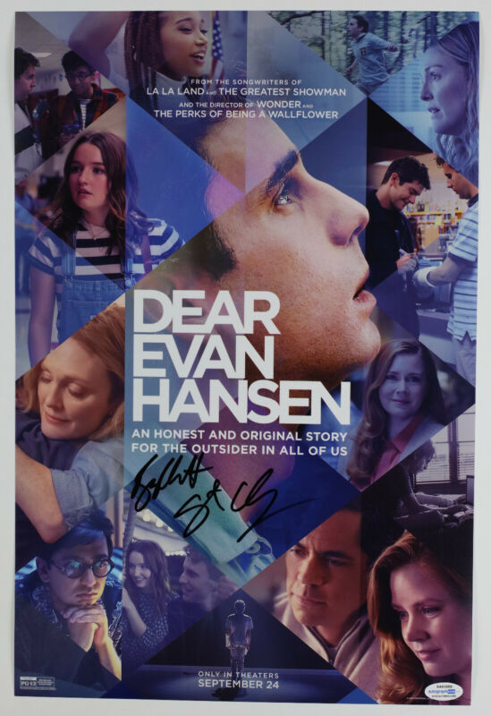 Ben Platt & Director Signed Dear Evan Hansen 12x18 Photo EXACT Proof ACOA A