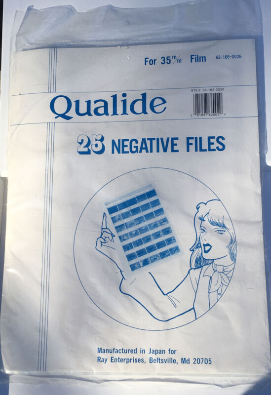 Qualide Negative Files/Sleeves For 35mm Film - 25 Sheets