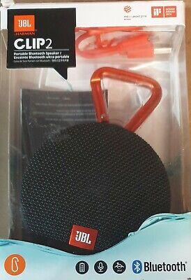 JBL Clip 2 Bluetooth Portable Speaker - Black