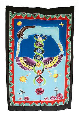 Batik Chakra Connection Spiritual Hanging Wall Cotton Handmade 177 x 117cm