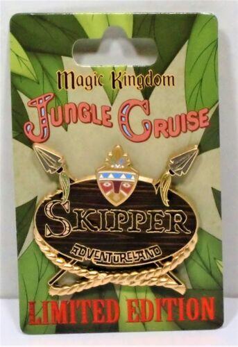 Disney Magic Kingdom Jungle Cruise 45th Skipper Cast Name Tag Badge Pin LE 2000
