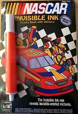 Collector's Series NASCAR INVISIBLE INK Picture Book with Stickers Ages 3+ (Invisible Ink Book)