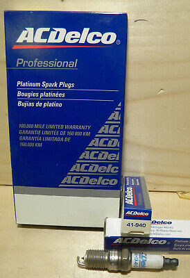 1 AC Delco 41-940 Platinum Professional Spark Plugs Buick Chevy Olds Pontiac New