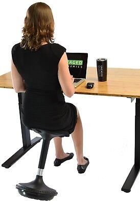 WOBBLE STOOL active sitting balance perch perching stand up standing desk chair