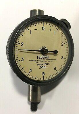 Mahr Federal B2i Dial Indicator With Lug Back 0-.025 Range .0001 Graduation