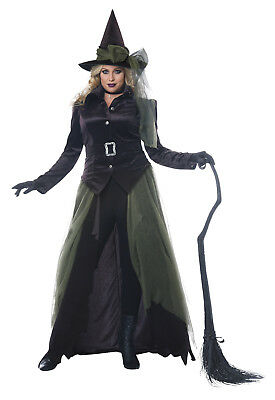 Oz Wicked Gothic Witch Plus Size Women - Woman Witch Costume