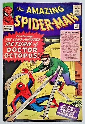 1964 Marvel Comics Book The Amazing Spider-Man #11 2nd Doctor Octopus App