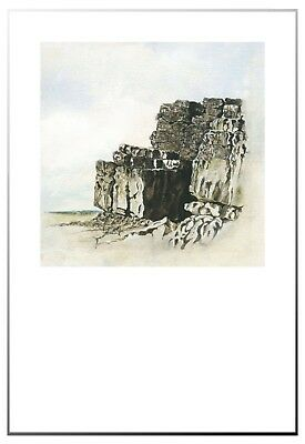 Seaside Rocks - Seaside Rocks Print only Image size 25 x 25cm, Paper size 33 x 48cm