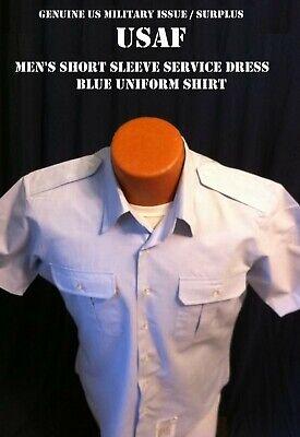 Us Airforce Uniform (NEW US AIR FORCE USAF SHIRT MEN'S 16-1/2 SHORT SLEEVE UNIFORM SERVICE DRESS)