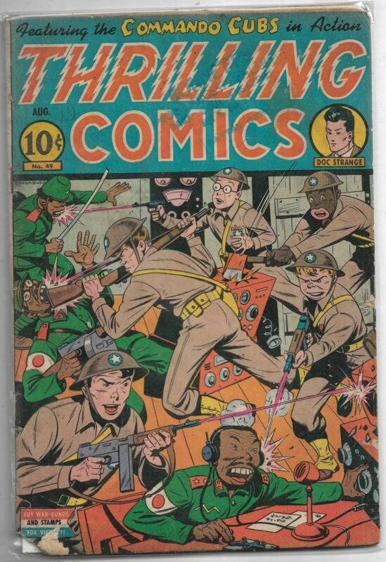 Thrilling Comics #49 Standard Mag. 1945 Golden Age Comic VG+/FN-