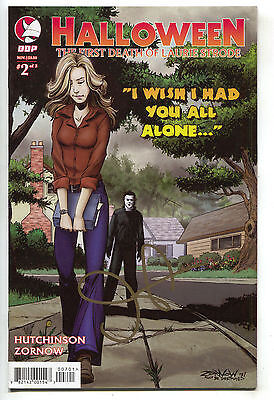 Halloween First Death Laurie Strode 2 VF NM Michael Myers Signed John Carpenter (Halloween Laurie Strode)