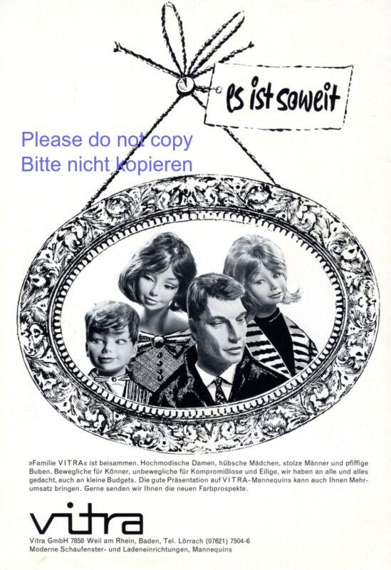 Mannequin Vitra German ad 1965 display dummy advertising  family Weil Rhine +