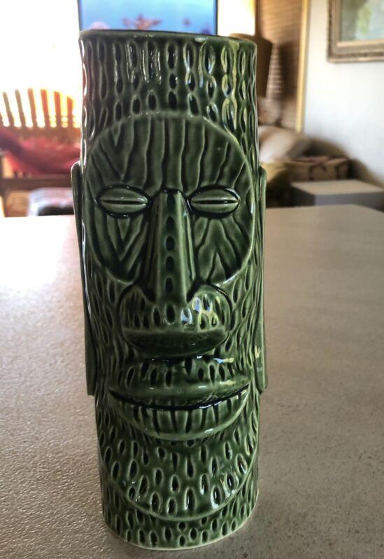 """Vintage C. 1974 Huki-Lau Green Moai TIKI Mug Collectible 7"""""""