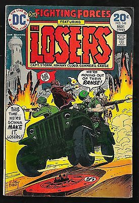Our Fighting Forces 148 1974 KUBERT cover very good 4.0 FREE ship USA