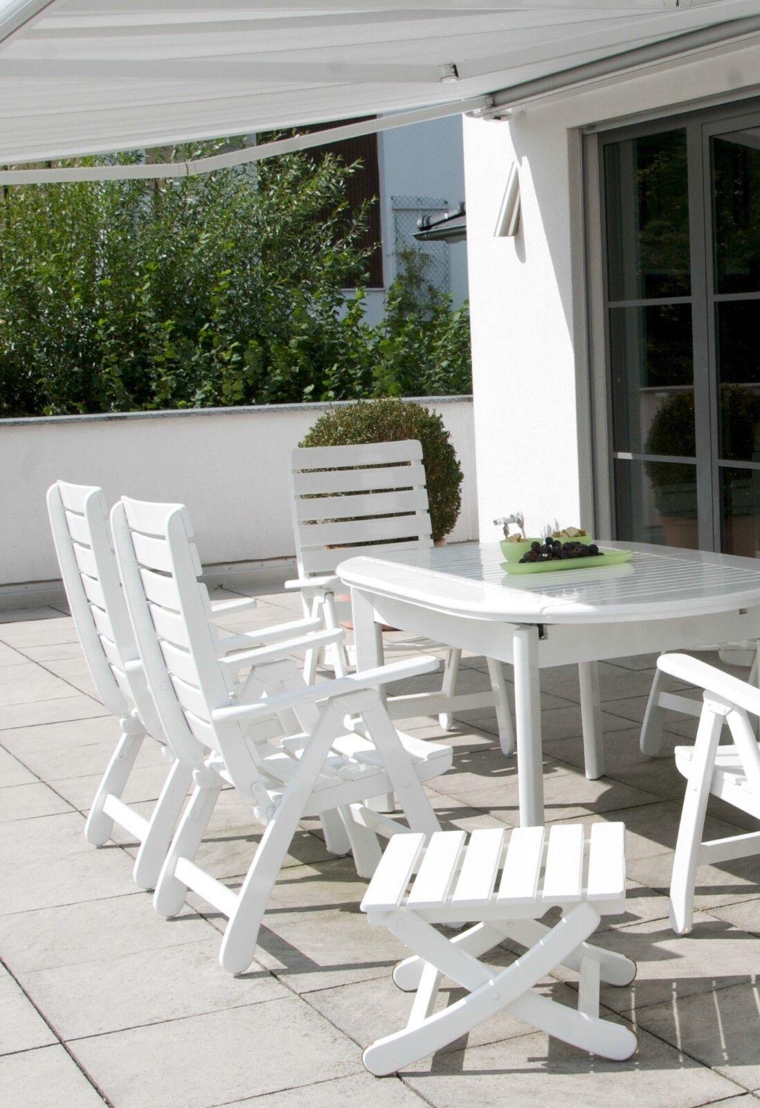 Hochlehner, Sessel, Holz, weiß lackiert, Gartenstuhl, Gartenmöbel, Terrasse