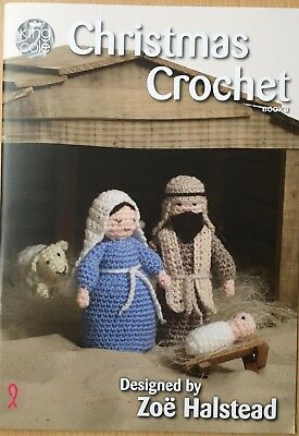 Christmas Crochet King Cole BOOK 3 Nativity Baubles Wreath Penguin 16 Toy Ideas