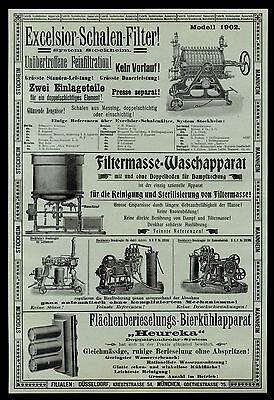 Riesige Anzeige v. 1903 Excelsior-Schalen-Filter (2) Heinrich Stockheim Mannheim